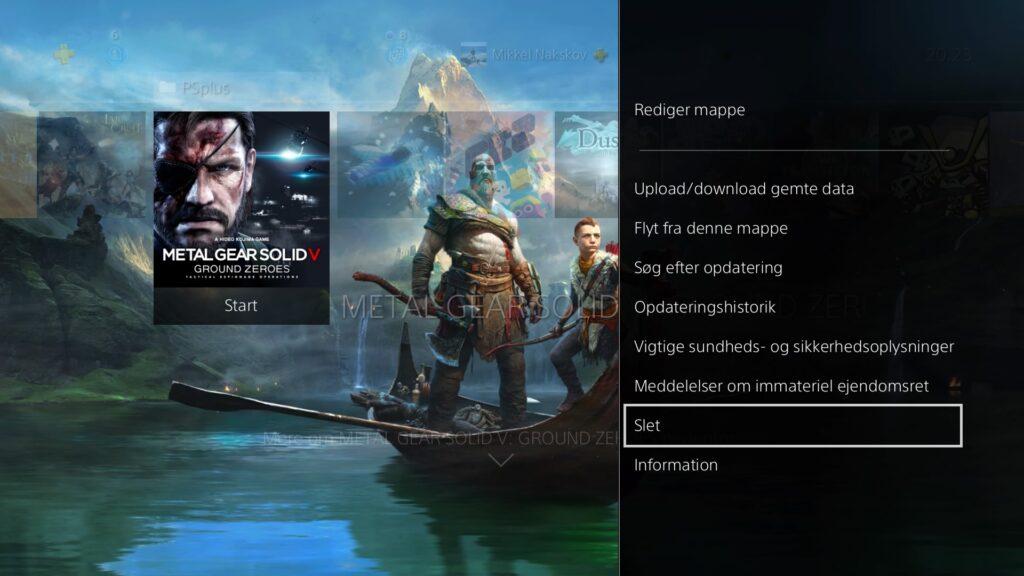 Spil bliver slettet fra PS4 system