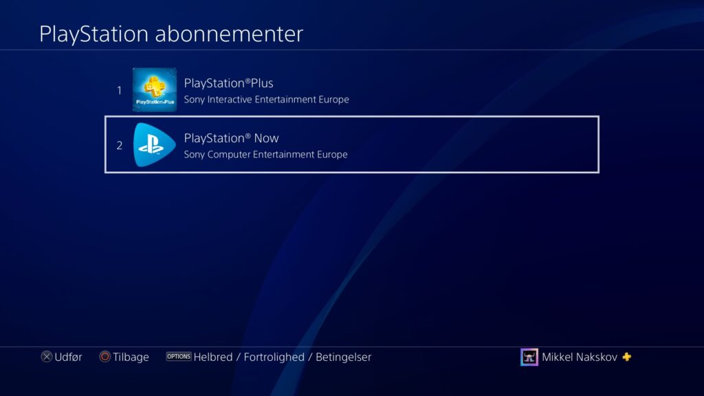 PS now i playstation abonnementer